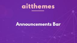 Announcements Bar