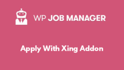 Apply With Xing Addon