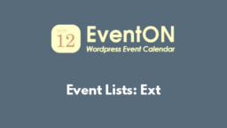Event Lists: Ext