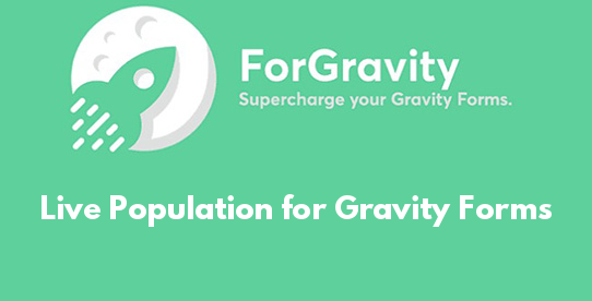 Live Population for Gravity Forms