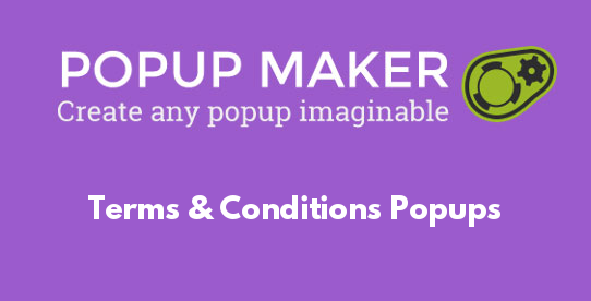 Terms & Conditions Popups